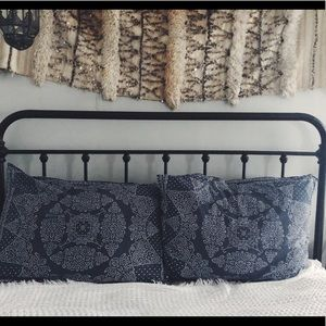 Anthropologie BRAND NEW indigo linen Pillow Shams